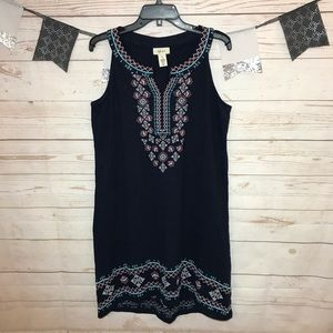 Style&Co Embroidered Sleeveless Knit Dress M